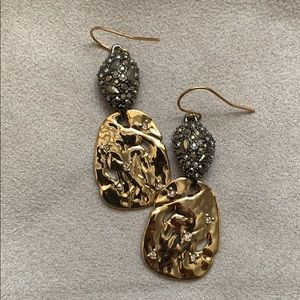 Alexis Bittar Gold Pebble Drop Earrings